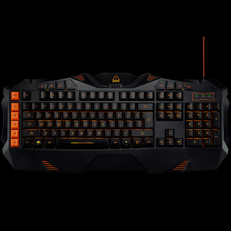 CANYON Wired multimedia gaming keyboard with lighting effect