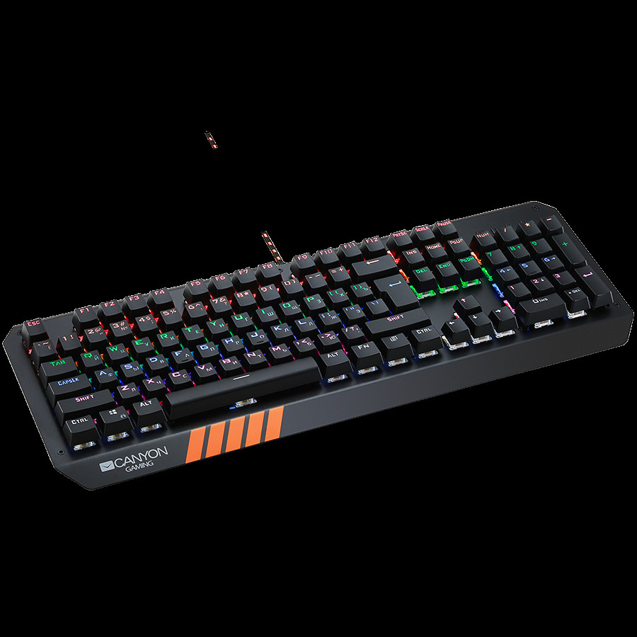 CANYON Wired multimedia gaming keyboard with lighting effect-1-3-3