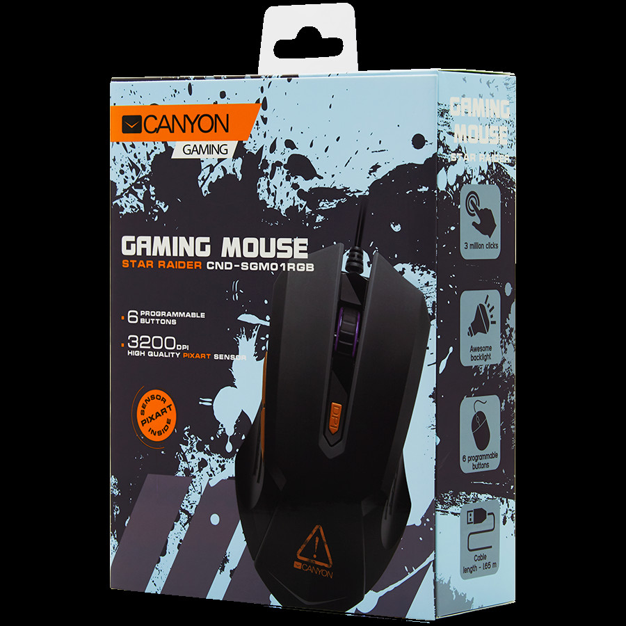 Optical Gaming Mouse with 6 programmable buttons-1-3-3