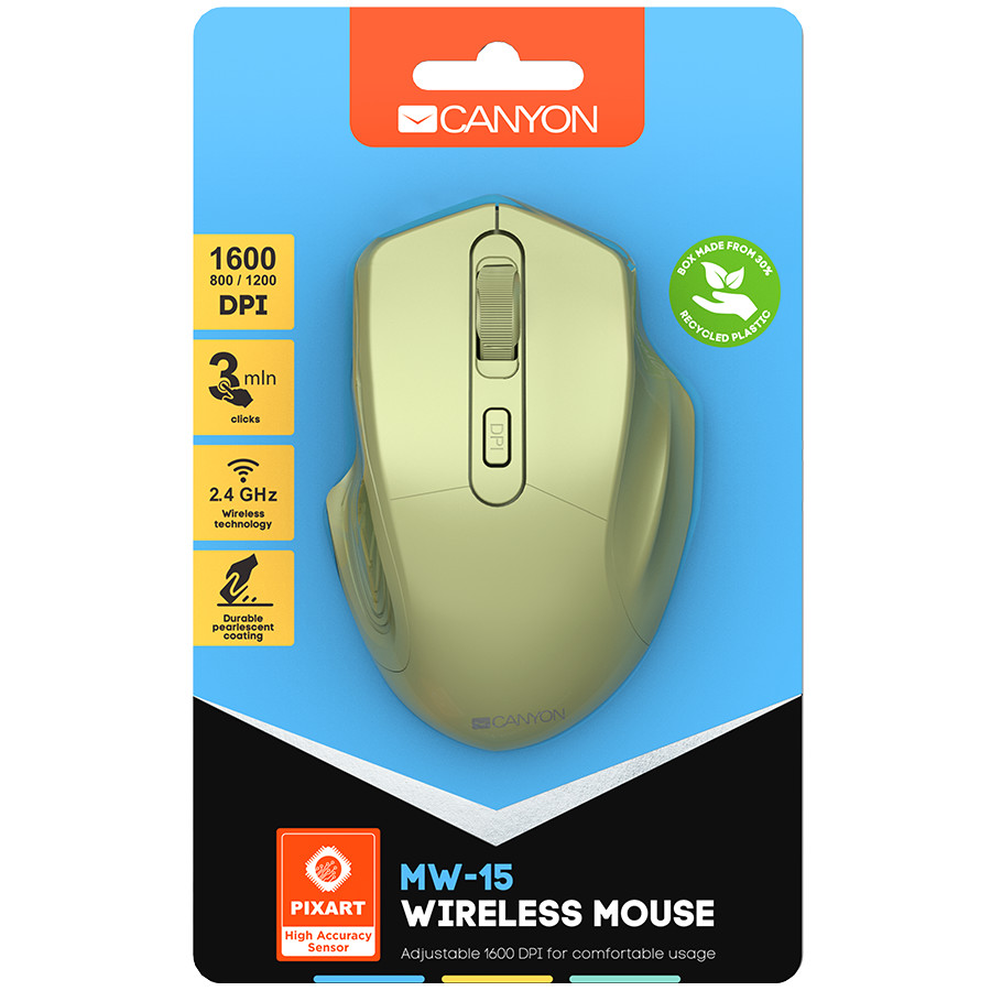 CANYON 2.4GHz Wireless Optical Mouse with 4 buttons,-2-3-2