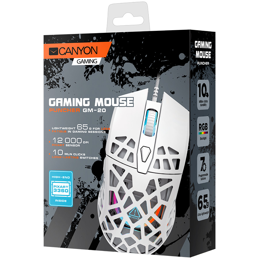 Puncher GM-20 High-end Gaming Mouse with 7 programmable buttons-2-1-4