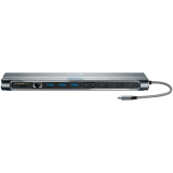 Canyon Multiport Docking Station with 12 ports: 1*Audio+1*SD+1*TF+1*RJ45+3*USB3.0+1*VGA+1*HDMI+1*DP+1*Typec+1*Lock