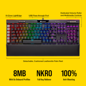 Геймърска клавиатура Corsair K95 RGB PLATINUM XT Mechanical метална