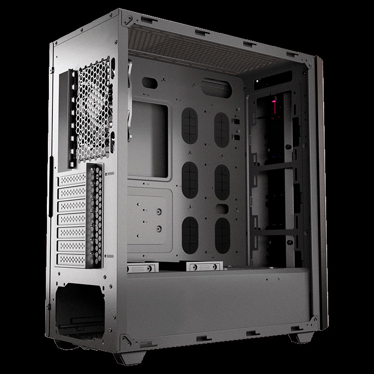 "Chassis COUGAR Gemini S-Iron Gray, Mid-Tower, Mini ITX / Micro ATX / ATX / CEB / E-ATX, USB3.0 x 2, USB2.0 x 1, Mic x 1 / Audio x 1, RGB Control Button, 2.5"" Drive Bay 5+2-2-2-2"