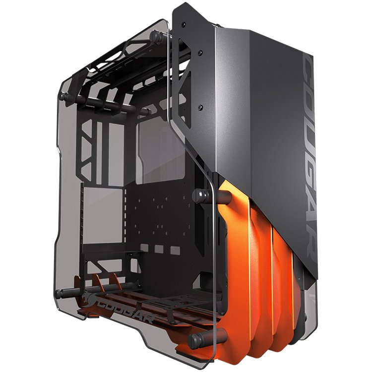 Chassis COUGAR Blazer, Mid Tower, Aluminum Framing Design, Mini ITX/Micro ATX/ATX/CEB, USB3.0 x2, Mic x1/ Audio x1, Reset Button, Tempered Glass Side Panel Both Sides 5mm, Dimensions-1-3-3