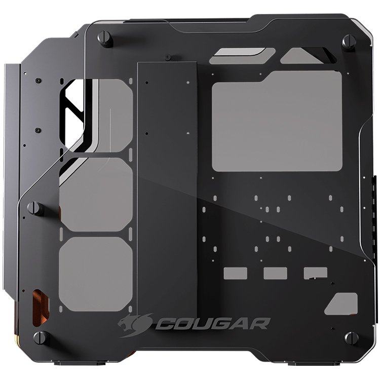 Chassis COUGAR Blazer, Mid Tower, Aluminum Framing Design, Mini ITX/Micro ATX/ATX/CEB, USB3.0 x2, Mic x1/ Audio x1, Reset Button, Tempered Glass Side Panel Both Sides 5mm, Dimensions-1-2-1