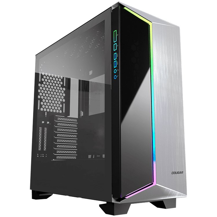 Chassis COUGAR Dark Blader-G, Full Tower, Mini ITX/Micro ATX/ATX/CEB/**E-ATX, USB 3.0x2/Mic x1/Audio x1/RGB Control Button x1, Rear: 120mm x1-2-2-2
