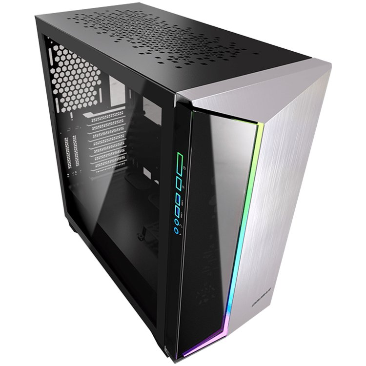 Chassis COUGAR Dark Blader-G, Full Tower, Mini ITX/Micro ATX/ATX/CEB/**E-ATX, USB 3.0x2/Mic x1/Audio x1/RGB Control Button x1, Rear: 120mm x1-2-1-4