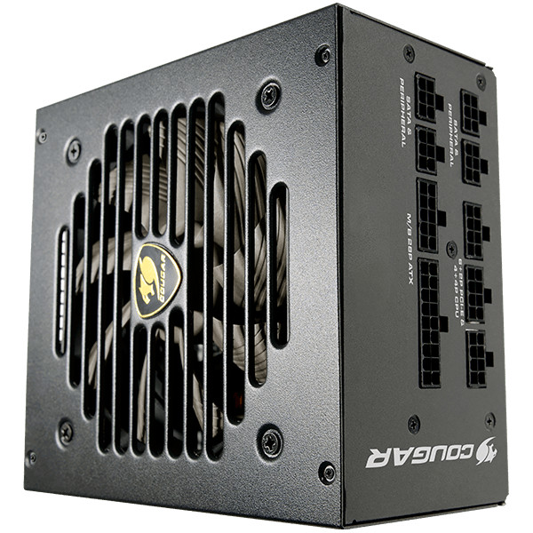 COUGAR GEX 850, 850W, 80 Plus Gold, Fully Modular Power Supply Unit, Strong Safeguards : OCP, OPP, OVP, UVP, SCP& OTP, Over Temperature Protection, COUGAR HDB Fan, Ultra-stable Voltage Outputs, Superior fan Curve Tuning, Dimensions: 160x150x86