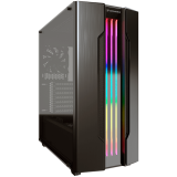 "Chassis COUGAR Gemini S-Iron Gray, Mid-Tower, Mini ITX / Micro ATX / ATX / CEB / E-ATX, USB3.0 x 2, USB2.0 x 1, Mic x 1 / Audio x 1, RGB Control Button, 2.5"" Drive Bay 5+2"