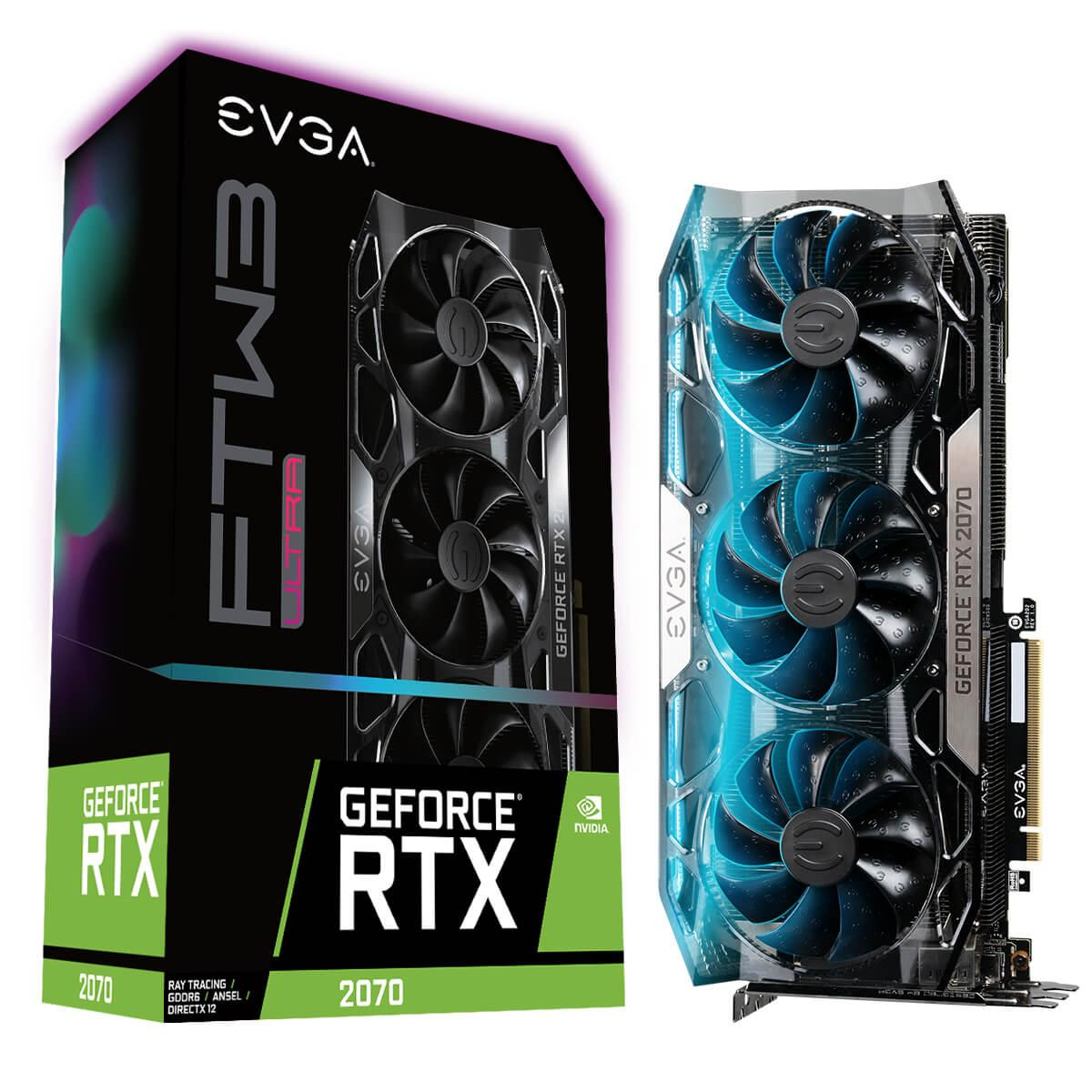 Видео карта EVGA GeForce RTX 2070 FTW3 ULTRA GAMING 8GB GDDR6 256 bit