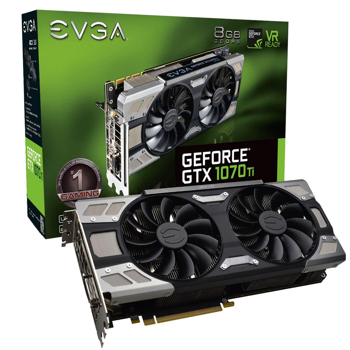 Видео карта EVGA GeForce GTX 1070 Ti FTW ULTRA SILENT GAMING ACX 3.0 8GB GDDR5 256 bit