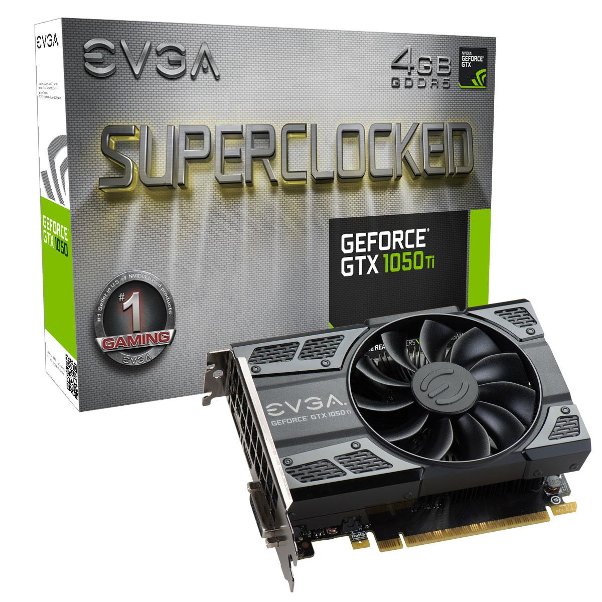 Видео карта  EVGA GeForce GTX 1050 Ti SC GAMING 04G-P4-6253-KR
