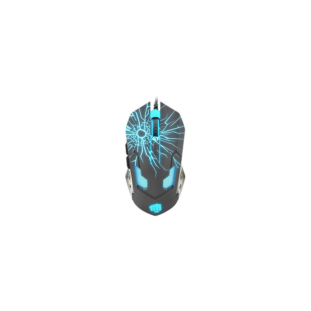 Fury Gaming mouse, Gladiator, optical 3200DPI, Illuminated black-2-2-2