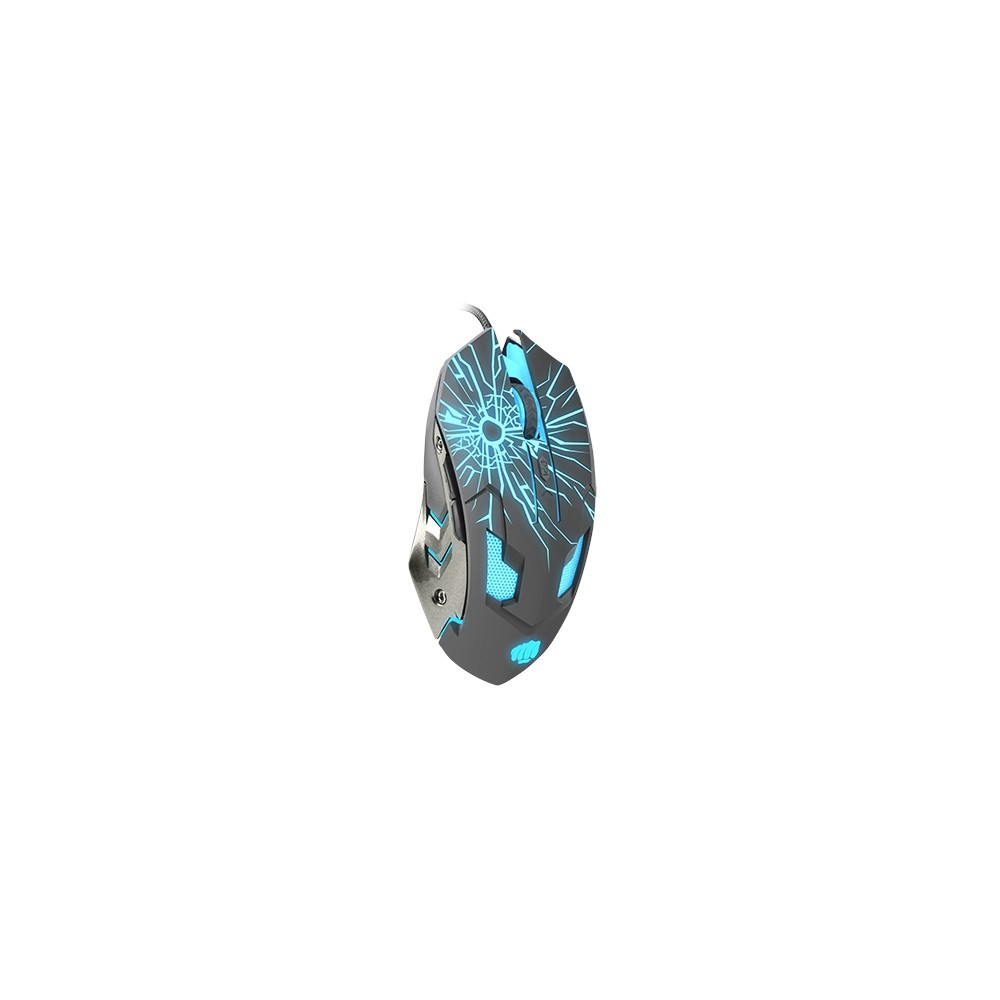 Fury Gaming mouse, Gladiator, optical 3200DPI, Illuminated black-1-3-3