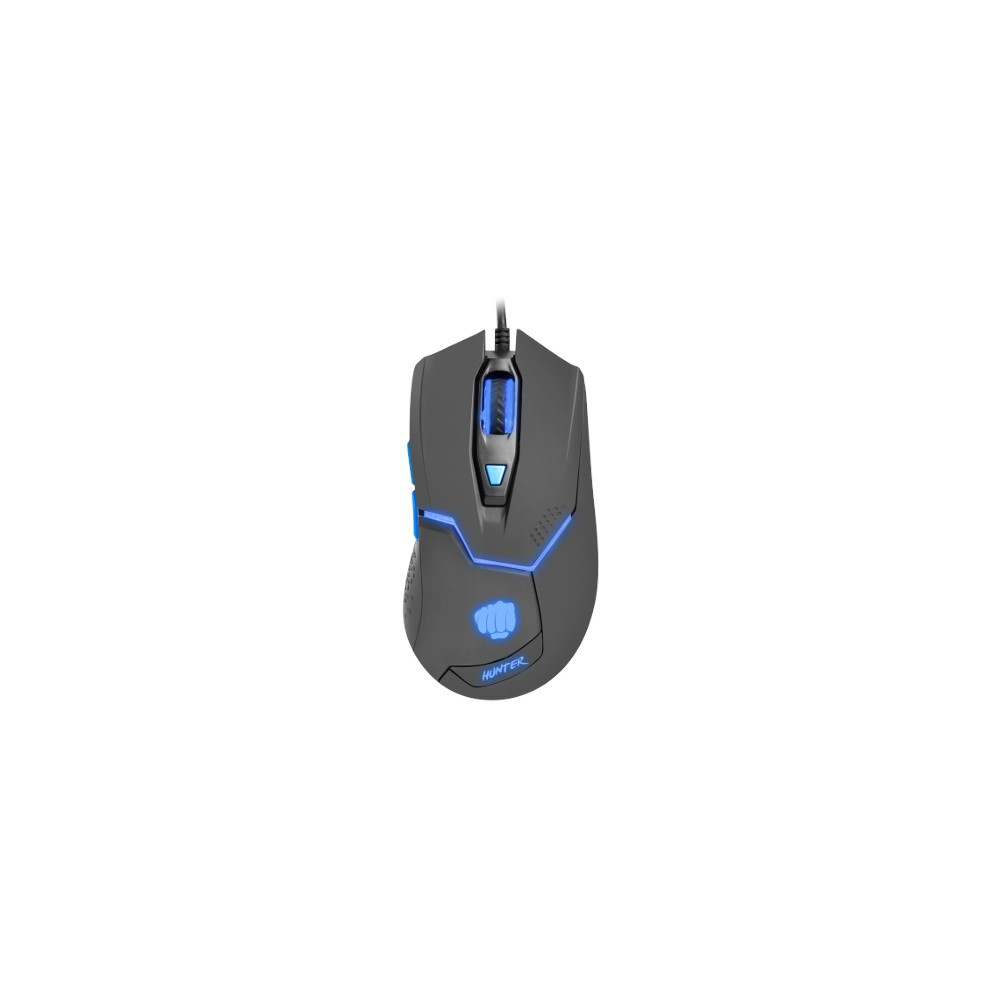 Fury Gaming mouse, Hunter 4800DPI, optical with software, Black-1-3-3