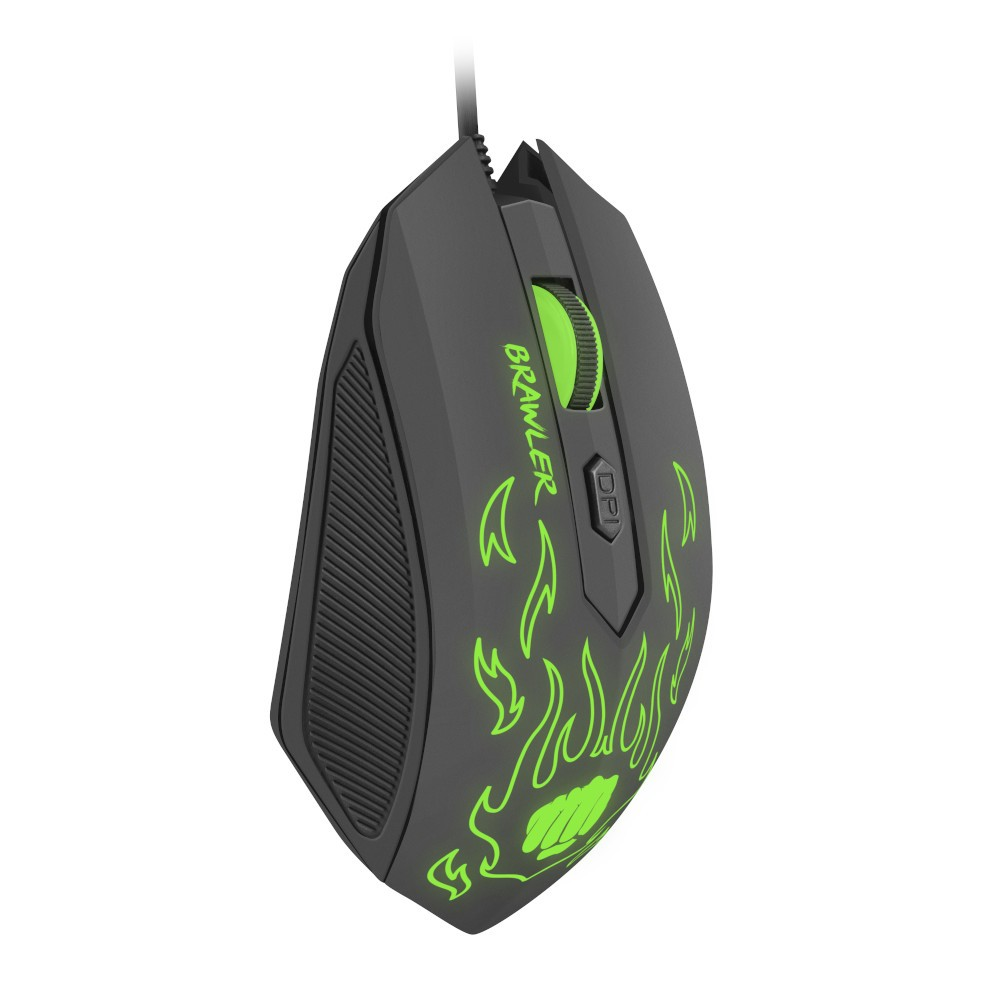 Fury Gaming mouse, Brawler optical 1600dpi Illuminated Black-2-1-4