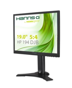 "HANNS.G HP194DJBМонитор 19"" LED 5:4 1280x1024, 170/160 VGA DVI Audio Black Matt, GS, TCO"