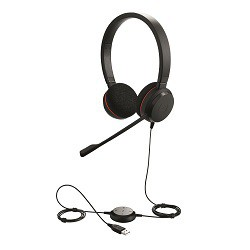 Слушалки с микрофон Jabra EVOLVE 20 MS Duo, Noise