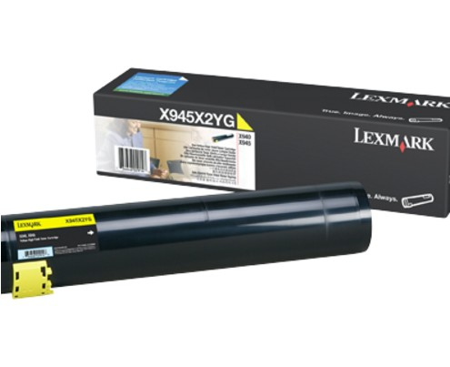 Lexmark X940e, X945e Yellow High Yield Toner Cartridge (22K)