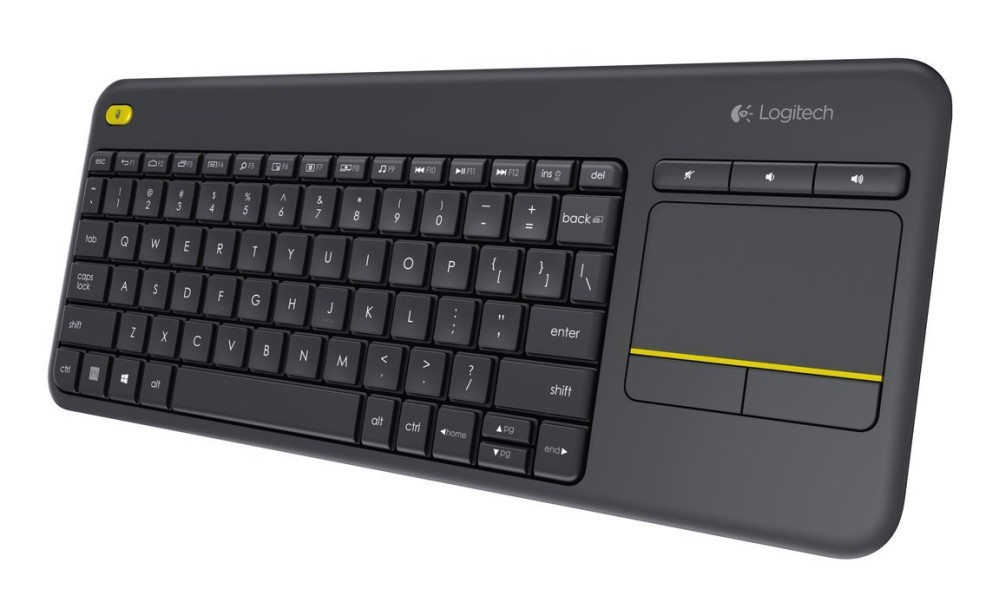 LOGITECH Wireless Touch Keyboard K400 Plus - INTNL - US International layout - Black