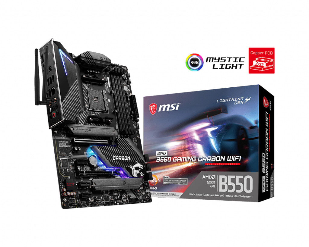 MSI MPG B550 GAMIN CARBON WIFI