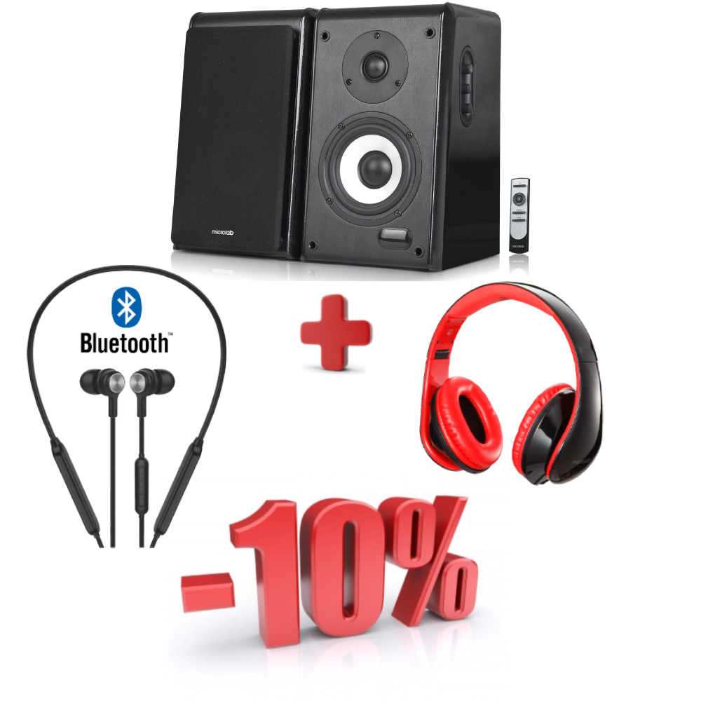 Аудио комплект Microlab Solo11+BOLT 200+K360 Black Red