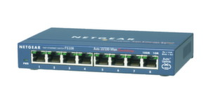 Суич Netgear FS108, 8 x 10/100 ProSafe switch, external