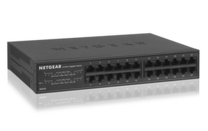 Суич Netgear GS324, 24 x 10/100/1000 Gigabit Switch metal