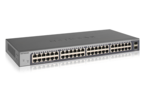 Суич Netgear GS750E, 48 x 10/100/1000 Prosafe Plus Gigabit
