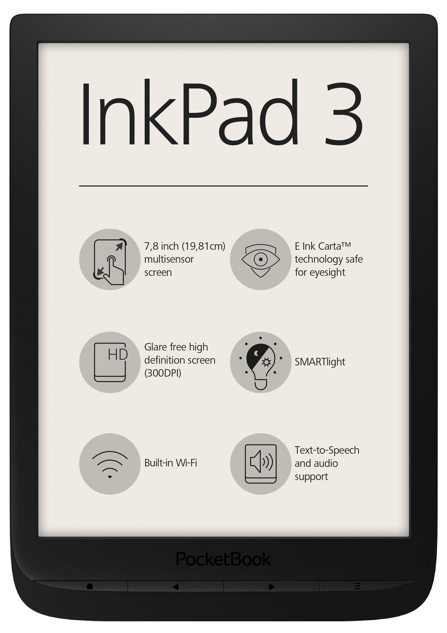 "eBookчетец PocketBook InkPad 3 PB740, 7.8"" ,Черен"