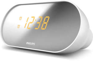 Philips - Clock Radio Compact design Mirror-finished display