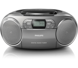 Philips CDрадиокасетофон, Digital Audio Broadcasting, Dianamic Bass Boost, цвят