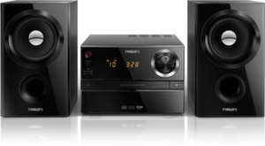 Philipsмузикална микросистема, RMS: 30 W, CD, MP3-CD, USB, FM