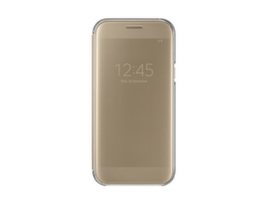 Samsung Galaxy A5 2017 , Clear View Cover, Gold