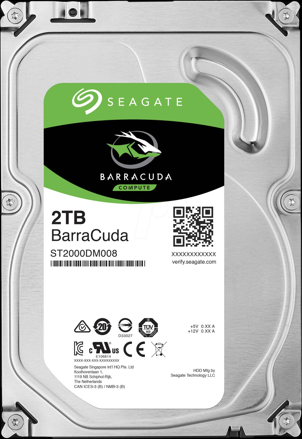 Seagate BarraCuda 2TB 7200rpm 256MB SATA3 3,5""