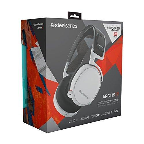 Gaming Earphone SteelSeries, Arctis 7 White 7.1, Microphone, White, Wireless