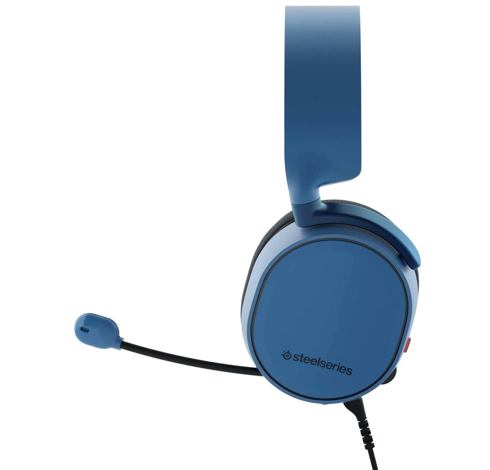Gaming Earphone SteelSeries, Arctis 3 Blue 7.1, Microphone, Blue
