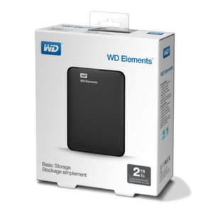 HDD 2TB USB 3.0 Elements Portable Black