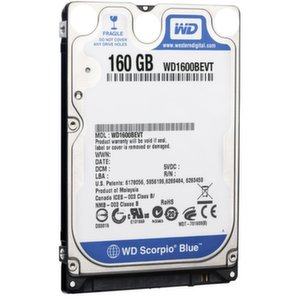 HDD 160GB SATAII Scorpio Blue 5400rpm 8MB cache Factory