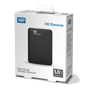 HDD 1,5TB USB 3.0 Elements Black