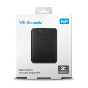 HDD 3TB USB 3.0 Elements Portable Black