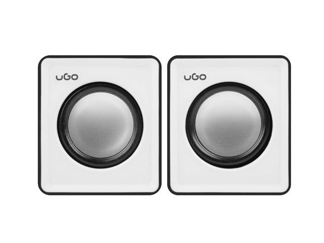 uGo Speakers 2.0 office 6W RMS Black-white