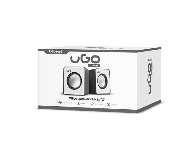 uGo Speakers 2.0 office 6W RMS Black-white-1-3-3