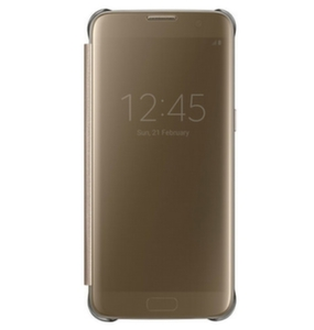 Samsung Galaxy S7 edge, Clear View Cover, Gold