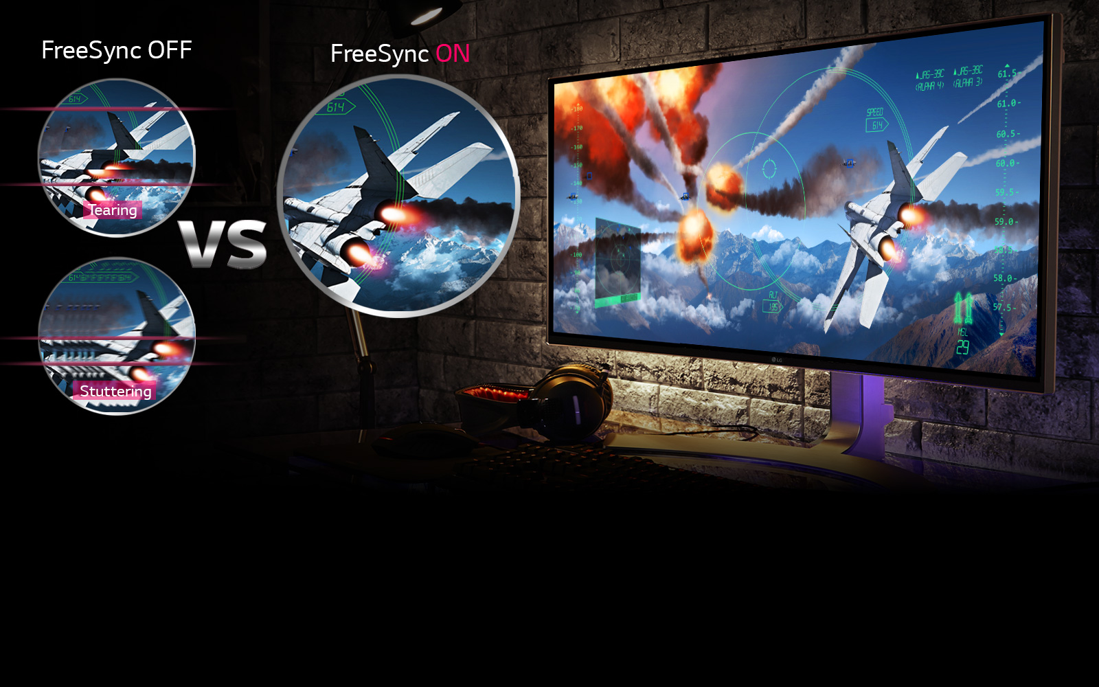 Clear, Live Gaming Scenes with FreeSync